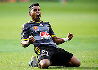 ROY KRISHNA OF THE WELLINGTON PHOENIX CELEBRATES, WELLINGTON