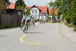 Annemiek van Vleuten (Orica AIS) leads the bunch at Thüringen Rundfarht 2016 - Stage 2 a 103km road race starting and finishing in Erfurt, Germany on 16th July 2016.