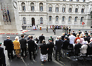 The Prime Minister, HRH Prince Charles and Duchess of Cornwall attend the 65th Anniversary of Japan's WWII surrender.