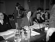 European Foreign Ministers Meet in Dublin.  (J2)..13.02.1975..02.13.1975..13th February 1975..A meeting of European foreign ministers took place in Dublin today. Ireland's representative at the meeting was Dr Garret Fitzgerald, the minister for Foreign Affairs. Other ministers attending the meeting were:.Mr M.Van Eslande...Belgium..Mr M.E. Joergenson...Denmark..Mr M.M.Rumor...Italy..Mr M.Jean Sauvagnargues...France..Mr M.Gaston Thorn...Luxembourg..Mr M.M.Van der Stoel...Holland..Mr Hans-Dietrich Genscher...Germany..Mr Roy Hattersley...Great Britain..and representing the Commission,.Mr. M.Francois-Xavier Ortoli..St Patrick's Hall,Dublin Castle, was the venue chosen for the meeting..
