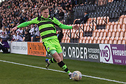 Forest Green Rovers Dayle Grubb(8) runs forward during the EFL Sky Bet League 2 match between Barnet and Forest Green Rovers at The Hive Stadium, London, England on 7 April 2018. Picture by Shane Healey.
