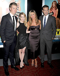 01.08.2013, Ziegfeld Theater, New York, USA, Filmpremiere, We are the Millers, im Bild Will Poulter, Emma Roberts, Jennifer Aniston and Jason Sudeikis // during photocall for the movie 'We are the Millers'at the Ziegfeld Theater in New York, United States of Amerika on 2013/08/01. EXPA Pictures © 2013, PhotoCredit: EXPA/ Newspix/ Dennis Van Tine<br /> <br /> ***** ATTENTION - for AUT, SLO, CRO, SRB, BIH, TUR, SUI and SWE only *****