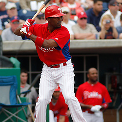 March 1, 2011; Clearwater, FL, USA; Philadelphia Phillies shortstop Jimmy Rollins (11) during a spring training exhibition game against the Detroit Tigers at Bright House Networks Field  Mandatory Credit: Derick E. Hingle