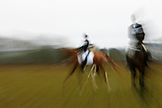Horses and riders in Blenheim Horse Trials, United Kingdom