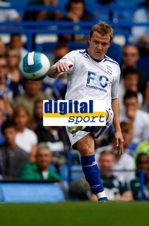 Photo: Richard Lane/Sportsbeat Images. <br />Chelsea v Birmingham. Barclay's Premiership. 12/08/2007. <br />Birmingham's Gary McSheffery kicks the free kick to set up his sides first goal.