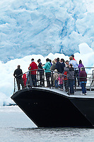 Glacier Express Cruise Tourists in Front of Aialik Glacier, Kenai Fjords National Park, Alaska