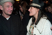 Ian Hart; Daisy Bates, The afterparty following the press night of 'Speaking In Tongues', at the Jewel Bar, Maiden Lane. Covent Garden. London. September 28, 2009,