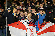 Whitehawk Ultras during the The FA Cup 2nd round replay match between Whitehawk FC and Dagenham and Redbridge at The Enclosed Ground, Whitehawk, Brighton, United Kingdom on 16 December 2015. Photo by Ellie Hoad.