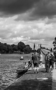 Walton, Great Britain,  Storm clouds move over the course of the Walton Reach Regatta, Walton on Thames, Skiff and Punting Regatta, River Thames.  <br />