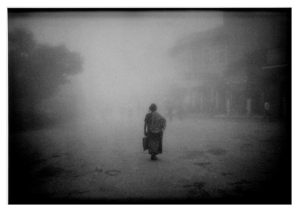 In the fog on the Chowrasta, Darjeeling.