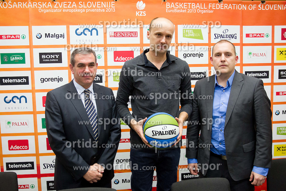 Roman Volcic, Jure Zdovc and Matej Avanzo during press conference of KZS when was Jure Zdovc presented as a new head coach of Slovenia basketball team on January 15, 2014 in Hotel Plaza,  Ljubljana, Slovenia. Photo by Vid Ponikvar / Sportida