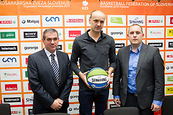 Roman Volcic, Jure Zdovc and Matej Avanzo during press conference of KZS when was Jure Zdovc presented as a new head coach of Slovenia basketball team on January 15, 2014 in Hotel Plaza,  Ljubljana, Slovenia. Photo by Vid Ponikvar / Sportida