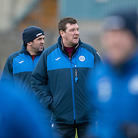 St Johnstone Training…30.12.16<br />Tommy Wright and Callum Davidson pictured during training this morning ahead of tomorrow's game against Dundee<br />Picture by Graeme Hart.<br />Copyright Perthshire Picture Agency<br />Tel: 01738 623350  Mobile: 07990 594431