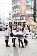 Mar 3, 2006; Tokyo, JPN; Akihabara.Anime models at Akihabara Station...Photo Credit: Darrell Miho .Copyright © 2006 Darrell Miho .