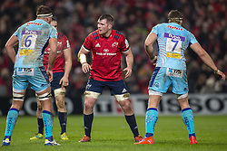 January 19, 2019 - Limerick, Ireland - Peter O'Mahony of Munster with Sam Skinner (6) and Don Armand (7) of Exeter during the Heineken Champions Cup match between Munster Rugby and Exeter Chiefs at Thomond Park in Limerick, Ireland on January 19, 2019  (Credit Image: © Andrew Surma/NurPhoto via ZUMA Press)