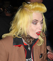 Pam Hogg arrives for the Premiere of 'The Commuter' held at Aqua, London, UK, 25 October 2010: For piQtured Sales contact: Ian@Piqtured.com +44(0)791 626 2580 (picture by Richard Goldschmidt)
