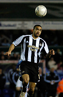 Photo: Leigh Quinnell.<br /> Birmingham City v Newcastle United. The FA Cup. 06/01/2007. Newcastles Kieran Dyer jumps for the ball.
