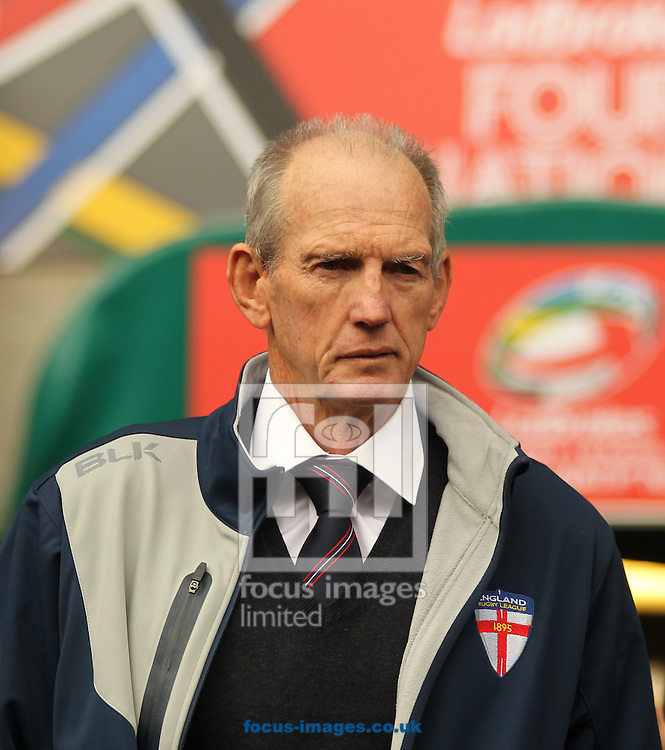 Wayne Bennett (Head Coach) of  England during the 2016 Ladbrokes Four Nations match at the John Smiths Stadium, Huddersfield<br /> Picture by Stephen Gaunt/Focus Images Ltd +447904 833202<br /> 29/10/2016