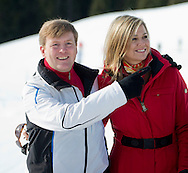 Lech, 22 February 2016<br /> <br /> <br /> Winter holiday photo session in Lech, Austria, with The Dutch Royal Family. King Willem-Alexander and Queen Maxima  and their daughters Princess Catharina-Amalia, Princess Alexia and Princess Ariane and Their Royal Highnesses Prince Constantijn and Princess Laurentien of the Netherlands and their children countess Eloise, count Claus-Casimir and countess Leonore.<br /> <br /> Royalportraits Europe/Bernard Ruebsamen