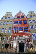 Gdansk, Poland renovated buildings near the old Town Hall