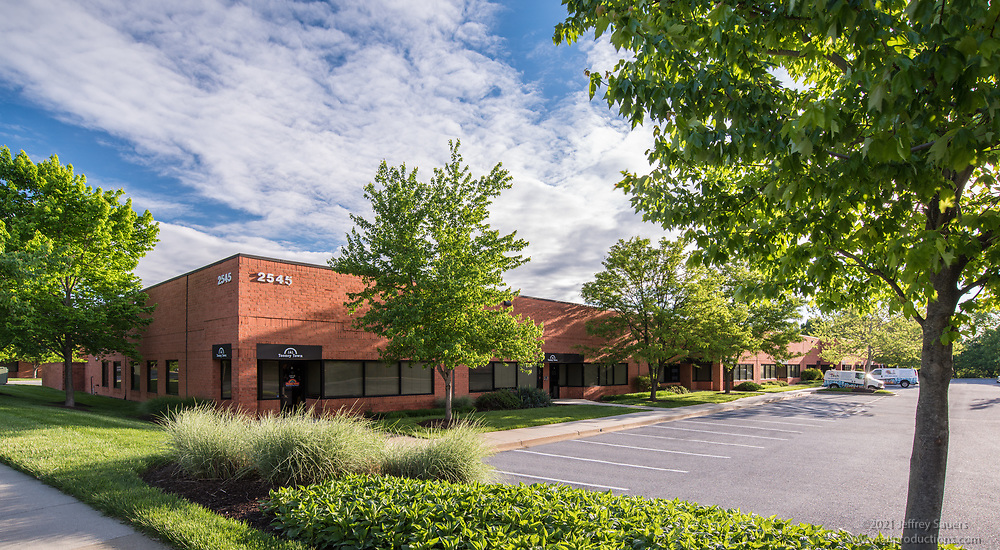 Exterior photo of Windsor Corporate Park in Maryland by Jeffrey Sauers of Commercial Photographics, Architectural Photo Artistry in Washington DC, Virginia to Florida and PA to New England