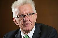 25 SEP 2015, BERLIN/GERMANY:<br /> Winfried Kretschmann, B90/ Gruene, Ministerpraesident Baden-Wuerttemberg, waehrend einem Interview, Bundesrat<br /> IMAGE: 20150925-02-011