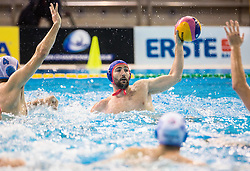 Blai Guel Mallarach of Olympiacos during water polo match between Primorje Erste Bank (CRO) and Olympiacos Piraeus (GRE) in 8th Round of Champions League 2016, on April 16, 2016 in Kantrida pool, Rijeka, Croatia. Photo by Vid Ponikvar / Sportida