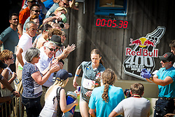 25.05.2014, Skiflugschanze Kulm, Kulm, AUT, Red Bull 400, Qualifikationsläufe Full Distance Männer, im Bild Siegerin Andrea Mayr // during the Red Bull 400 at the Skiflying Hill, Kulm, Austria on 2014/05/25, EXPA Pictures © 2014, PhotoCredit: EXPA/ M.Kuhnke