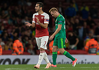 Football - 2018 / 2019 UEFA Europa League - Group E: Arsenal vs. Vorskla Poltava<br /> <br /> Henrikh Mkhitaryan (Arsenal FC) encourages his team on after they have taken the lead at The Emirates.<br /> <br /> COLORSPORT/DANIEL BEARHAM