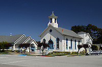 Methodist Church, Half Moon Bay, California, USA, 201305012297<br /> <br /> Copyright Image from Victor Patterson, 54 Dorchester Park, Belfast, UK, BT9 6RJ<br /> <br /> Tel: +44 28 9066 1296<br /> Mob: +44 7802 353836<br /> Voicemail +44 20 8816 7153<br /> Skype: victorpattersonbelfast<br /> Email: victorpatterson@me.com<br /> Email: victorpatterson@ireland.com (back-up)<br /> <br /> IMPORTANT: If you wish to use this image or any other of my images please go to www.victorpatterson.com and click on the Terms & Conditions. Then contact me by email or phone with the reference number(s) of the image(s) concerned.