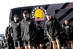 Exeter Chiefs arrive at Sale Sharks - Mandatory by-line: Robbie Stephenson/JMP - 08/12/2019 - RUGBY - AJ Bell Stadium - Manchester, England - Sale Sharks v Exeter Chiefs - Heineken Champions Cup
