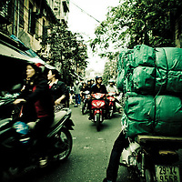 Rush hour, French Quarter, Hanoi, Vietnam