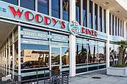 Woody's Diner in Via Lido Plaza of Newport Beach