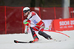 Thomas PFYL Super Combined Sochi competing in the Alpine Skiing Super Combined Slalom at the 2014 Sochi Winter Paralympic Games, Russia
