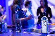 Cocktail glass of Bombay Sapphire Gin at Vinopolis, London, UK