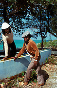 Sly and Robbie at Compass Point Studios Nassau working with Ian Dury