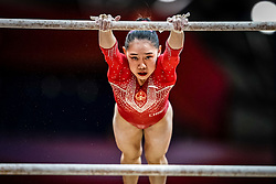 October 28, 2018 - Doha, Quatar - Tingting Liu of  China   during  Uneven Bars qualification at the Aspire Dome in Doha, Qatar, Artistic FIG Gymnastics World Championships on 28 of October 2018. (Credit Image: © Ulrik Pedersen/NurPhoto via ZUMA Press)