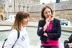 Pictured: Nicola Walsh and Kezia Dugdale<br /> <br /> Stillbirth and neonatal death charity  launched their awareness month campaign today in Edinburgh. The #15babiesaday drive by Sands aims to highlight the fact 15 babies a day in the UK die shortly before, during or after birth.  MSPs Neil Findlay, Kezia Dugdale, Angela Constance, Ian Gray among others joined bereaved parents at its Scottish Parliament launch today.<br /> <br /> Ger Harley | EEm 15 June 2017