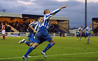 Photo: Paul Thomas.<br /> Chester City v Nottingham Forest. The FA Cup.<br /> 03/12/2005.<br /> <br /> Ryan Lowe celebrates his second goal.