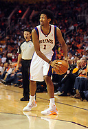 Oct. 29 2010; Phoenix, AZ, USA; Phoenix Suns guard-forward Josh Childress (1) handles the ball against the Los Angeles Lakers during the second quarter at the US Airways Center. Mandatory Credit: Jennifer Stewart-US PRESSWIRE.