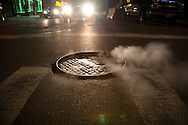 street scenes around midtown Manhattan at night