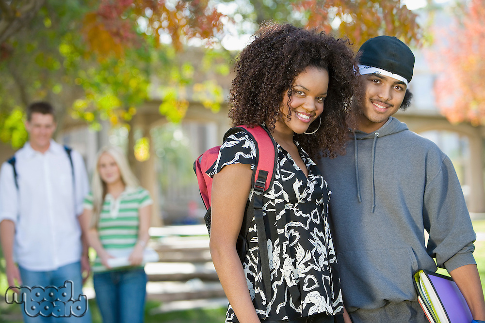 Young Couples Hanging Out on Campus