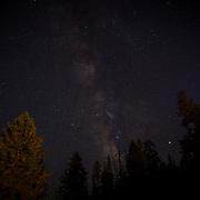 Part of the Milky Way is seen inside Yosemite National Park on Sunday, September 22, 2019 in Yosemite, California. (Alex Menendez via AP)