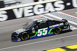 March 2, 2018 - Las Vegas, Nevada, United States of America - March 02, 2018 - Las Vegas, Nevada, USA: Joey Gase (55) brings his race car down the front stretch during practice for the Pennzoil 400 at Las Vegas Motor Speedway in Las Vegas, Nevada. (Credit Image: © Chris Owens Asp Inc/ASP via ZUMA Wire)