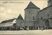 Zagreb : Crkveni obhod na kaptolu. <br /> <br /> ImpresumS. l. : S. n., [između 1905 i 1907].<br /> Materijalni opis1 razglednica : tisak ; 9 x 13,8 cm.<br /> Vrstavizualna građa • razglednice<br /> ZbirkaGrafička zbirka NSK • Zbirka razglednica<br /> Formatimage/jpeg<br /> PredmetZagreb –– Kaptol<br /> SignaturaRZG-KAP-84<br /> Obuhvat(vremenski)20. stoljeće<br /> NapomenaRazglednica nije putovala.<br /> PravaJavno dobro<br /> Identifikatori000955838<br /> NBN.HRNBN: urn:nbn:hr:238:526859 <br /> <br /> Izvor: Digitalne zbirke Nacionalne i sveučilišne knjižnice u Zagrebu