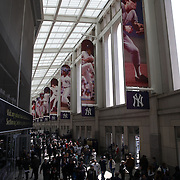 Fans in the entrance to Yankee Stadium before the New York Yankees Vs Toronto Blue Jays season opening day at Yankee Stadium, The Bronx, New York. 6th April 2015. Photo Tim Clayton