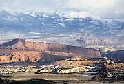 Henry Mountains, Winter, Capitol Reef, Capitol Reef National Park, Utah