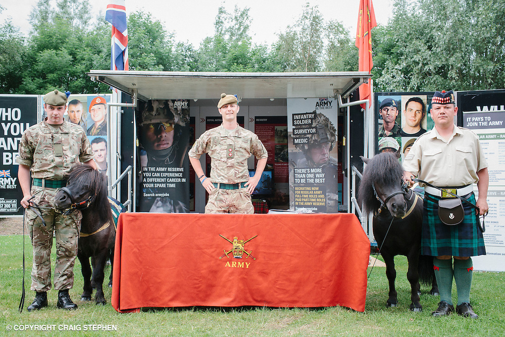 Royal Highland Show 2014. Army - Queens pony. PAYMENT TO CRAIG STEPHEN 07905 483532