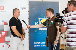Damijan Lazar, president of ZSIS-POK at media day of Slovenian Deaf Basketball team, on June 13, 2016 in GIB Centre, Ljubljana, Slovenia. Photo by Vid Ponikvar / Sportida