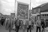 Ackton Hall banner, 1985 Yorkshire Miner's Gala. Rotherham.